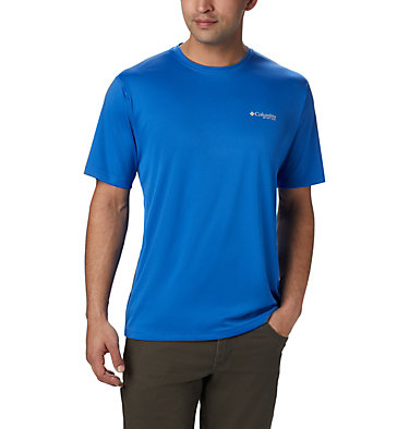 Men's PFG Zero Rules™ Short Sleeve Shirt PFG ZERO Rules™ SS Shirt | 469 | S, Vivid Blue, front