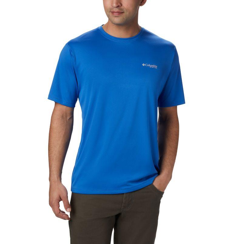 PFG ZERO Rules™ SS Shirt | 487 | M Men's PFG Zero Rules™ Short Sleeve Shirt, Vivid Blue, front