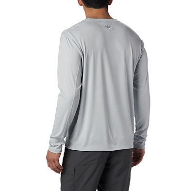 Men's PFG Zero Rules™ Long Sleeve Shirt PFG ZERO Rules™ LS Shirt | 341 | L, Cool Grey, back