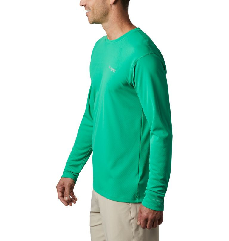 PFG ZERO Rules™ LS Shirt | 341 | M Men's PFG Zero Rules™ Long Sleeve Shirt, Dark Lime, a1