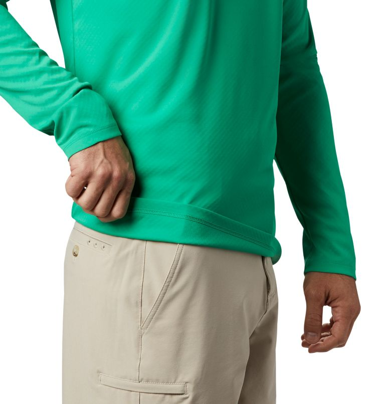 PFG ZERO Rules™ LS Shirt | 341 | M Men's PFG Zero Rules™ Long Sleeve Shirt, Dark Lime, a2