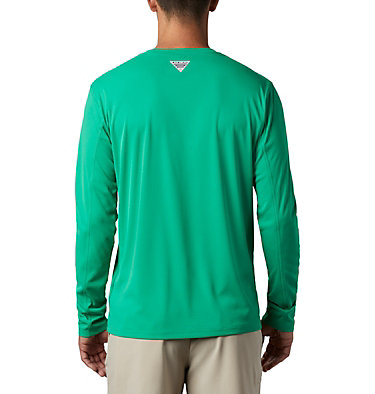 Men's PFG Zero Rules™ Long Sleeve Shirt PFG ZERO Rules™ LS Shirt | 341 | L, Dark Lime, back