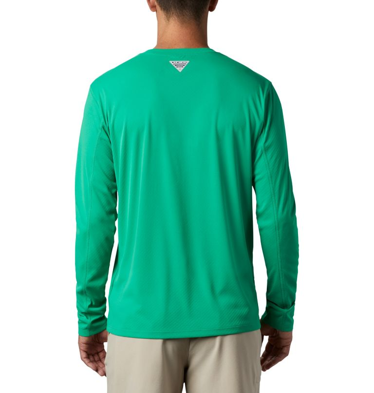 PFG ZERO Rules™ LS Shirt | 341 | M Men's PFG Zero Rules™ Long Sleeve Shirt, Dark Lime, back
