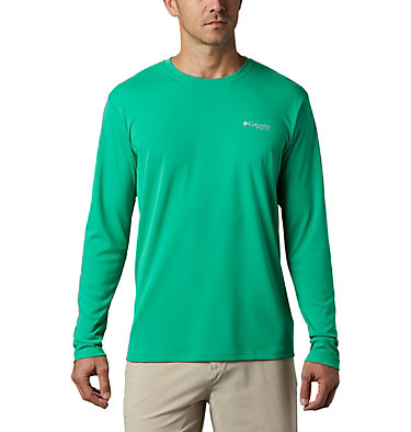 Men's PFG Zero Rules™ Long Sleeve Shirt PFG ZERO Rules™ LS Shirt | 341 | L, Dark Lime, front