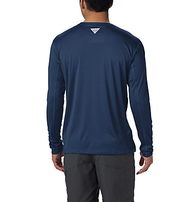 Men's PFG Zero Rules™ Long Sleeve Shirt PFG ZERO Rules™ LS Shirt | 341 | L, Carbon, back