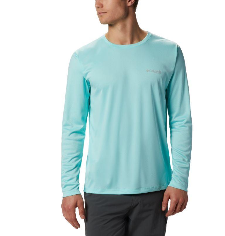 PFG ZERO Rules™ LS Shirt | 499 | M Men's PFG Zero Rules™ Long Sleeve Shirt, Gulf Stream, front