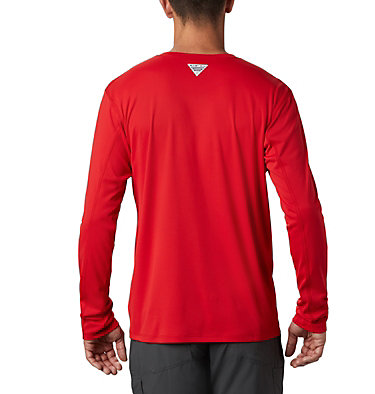 Men's PFG Zero Rules™ Long Sleeve Shirt PFG ZERO Rules™ LS Shirt | 341 | L, Red Spark, back