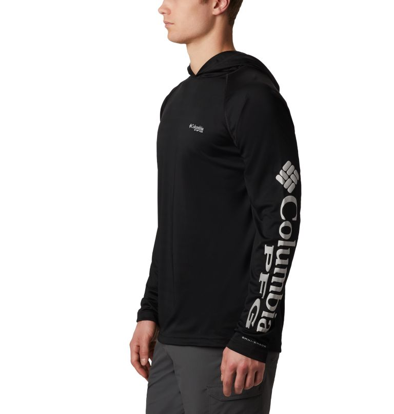 Terminal Tackle™ Hoodie | 010 | XS Men's PFG Terminal Tackle™ Hoodie, Black, Cool Grey Logo, a1