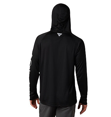 Men's PFG Terminal Tackle™ Hoodie Terminal Tackle™ Hoodie | 455 | XXL, Black, Cool Grey Logo, back