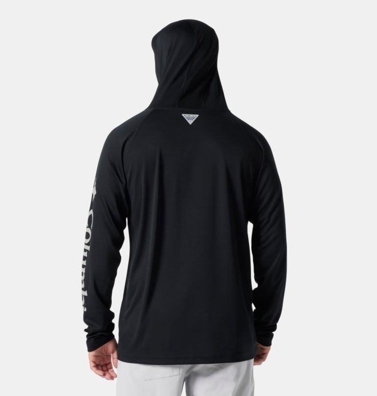 Terminal Tackle™ Hoodie | 010 | L Men's PFG Terminal Tackle™ Hoodie, Black, Cool Grey Logo, back
