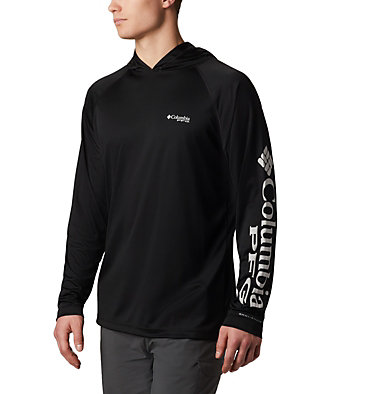 Men's PFG Terminal Tackle™ Hoodie Terminal Tackle™ Hoodie | 455 | XXL, Black, Cool Grey Logo, front