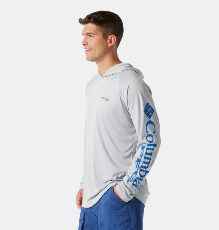 Terminal Tackle™ Hoodie | 020 | S Men's PFG Terminal Tackle™ Hoodie, Cool Grey, Vivid Blue Logo, a1