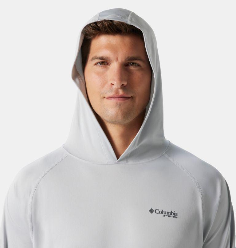 Terminal Tackle™ Hoodie | 020 | S Men's PFG Terminal Tackle™ Hoodie, Cool Grey, Vivid Blue Logo, a2