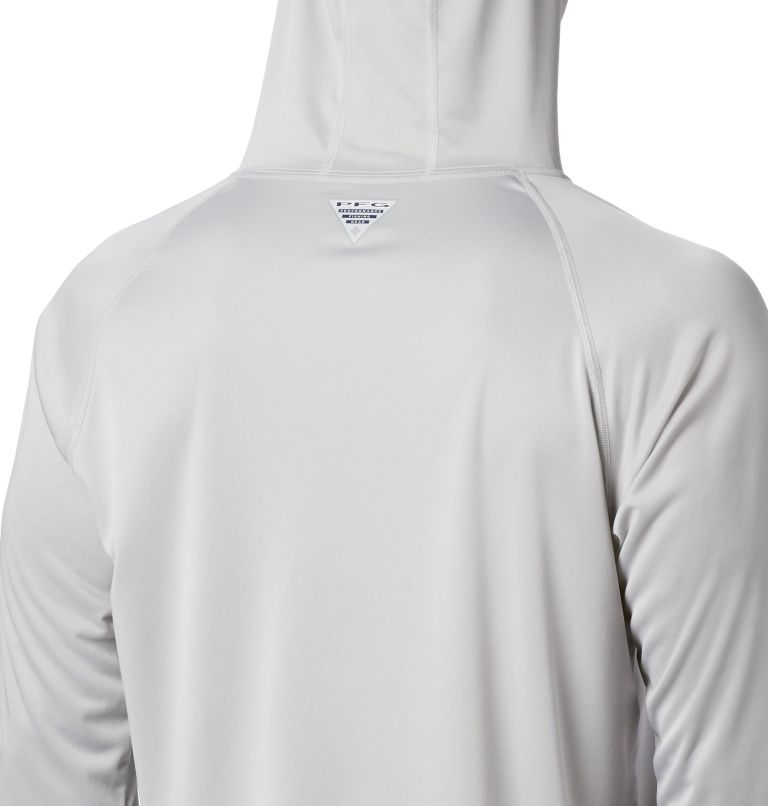 Terminal Tackle™ Hoodie   020   XXL Men's PFG Terminal Tackle™ Hoodie, Cool Grey, Vivid Blue Logo, a2