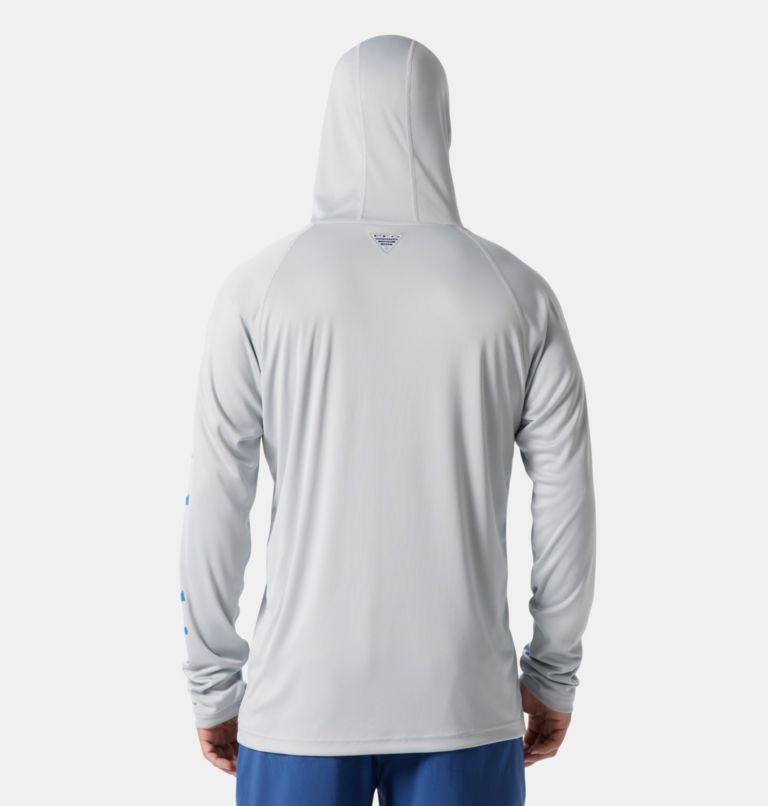 Terminal Tackle™ Hoodie   020   XXL Men's PFG Terminal Tackle™ Hoodie, Cool Grey, Vivid Blue Logo, back