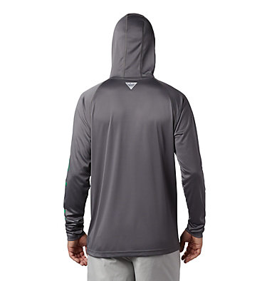 Men's PFG Terminal Tackle™ Hoodie Terminal Tackle™ Hoodie | 454 | L, City Grey, Dark Lime Logo, back