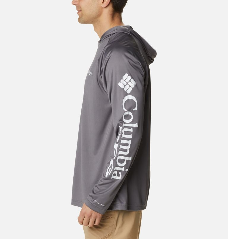 Terminal Tackle™ Hoodie | 024 | S Men's PFG Terminal Tackle™ Hoodie, City Grey, White Logo, a1