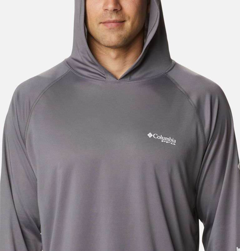 Terminal Tackle™ Hoodie | 024 | S Men's PFG Terminal Tackle™ Hoodie, City Grey, White Logo, a2