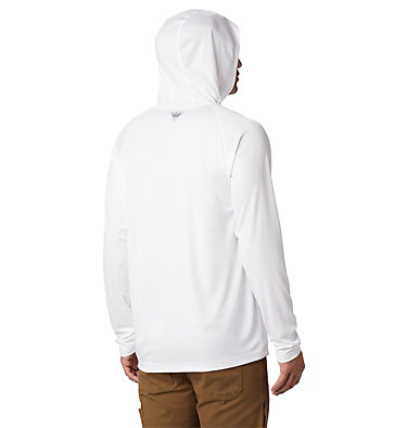 Men's PFG Terminal Tackle™ Hoodie Terminal Tackle™ Hoodie | 455 | XXL, White, Nightshade Logo, back