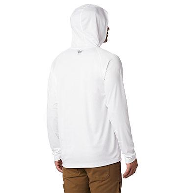 Men's PFG Terminal Tackle™ Hoodie Terminal Tackle™ Hoodie | 020 | XXL, White, Nightshade Logo, back