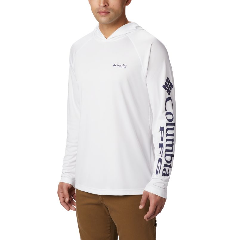 Terminal Tackle™ Hoodie | 100 | XS Men's PFG Terminal Tackle™ Hoodie, White, Nightshade Logo, front