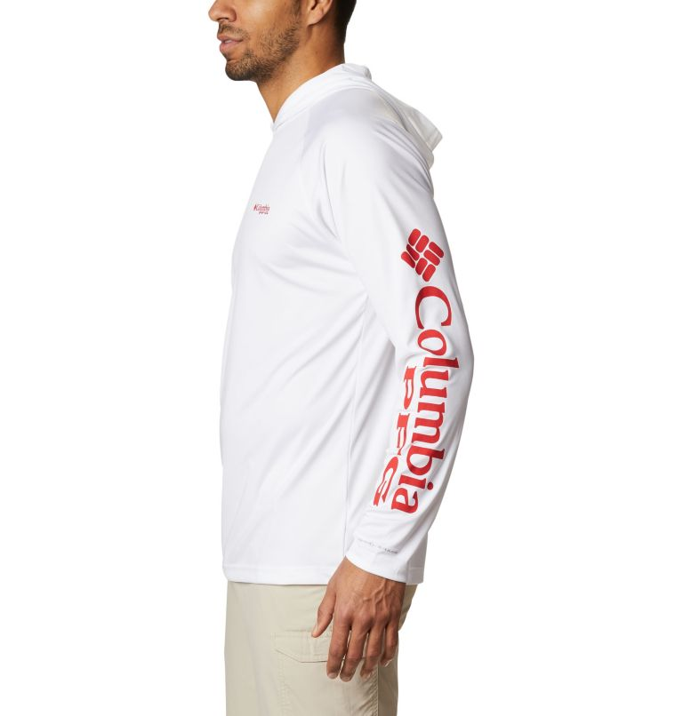 Terminal Tackle™ Hoodie | 101 | S Men's PFG Terminal Tackle™ Hoodie, White, Red Spark Logo, a1