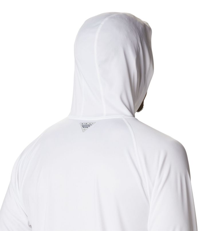 Terminal Tackle™ Hoodie | 101 | S Men's PFG Terminal Tackle™ Hoodie, White, Red Spark Logo, a3