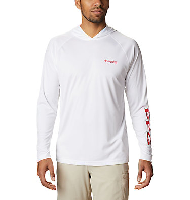 Men's PFG Terminal Tackle™ Hoodie Terminal Tackle™ Hoodie   455   XXL, White, Red Spark Logo, front