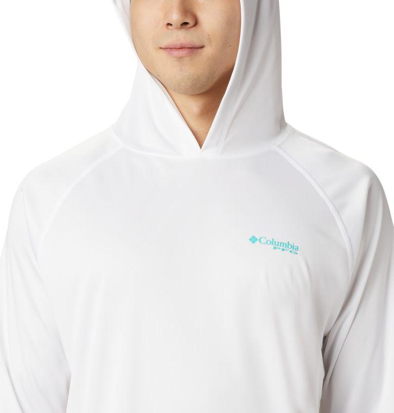 Terminal Tackle™ Hoodie | 102 | XL Men's PFG Terminal Tackle™ Hoodie, White, Bright Aqua Logo, a2