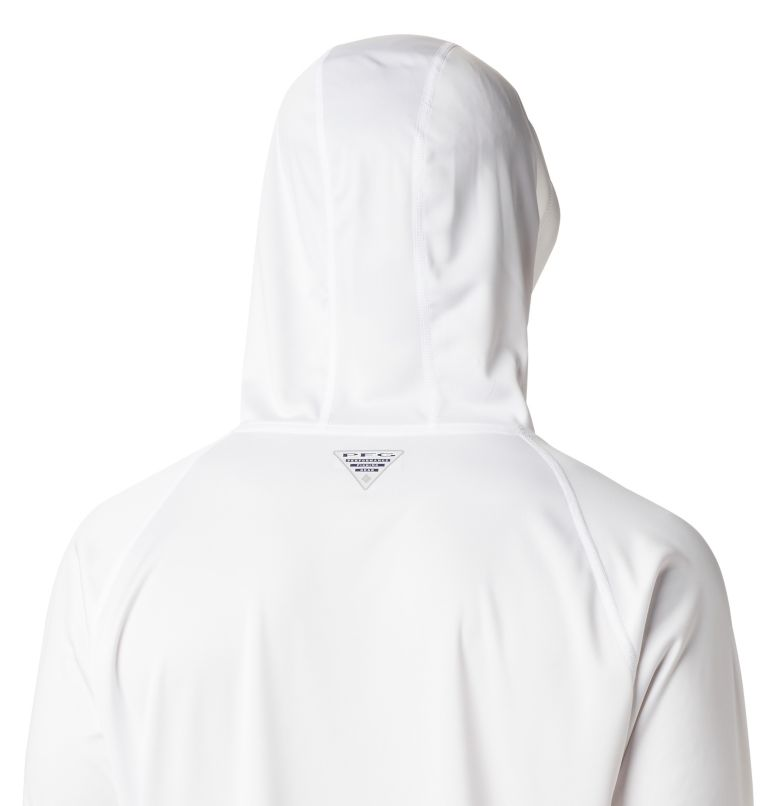 Terminal Tackle™ Hoodie | 102 | XS Men's PFG Terminal Tackle™ Hoodie, White, Bright Aqua Logo, a3