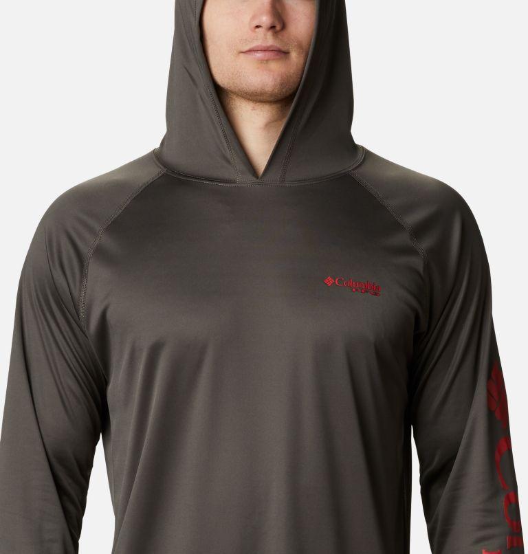 Terminal Tackle™ Hoodie | 326 | XL Men's PFG Terminal Tackle™ Hoodie, Alpine Tundra, Red Spark Logo, a2