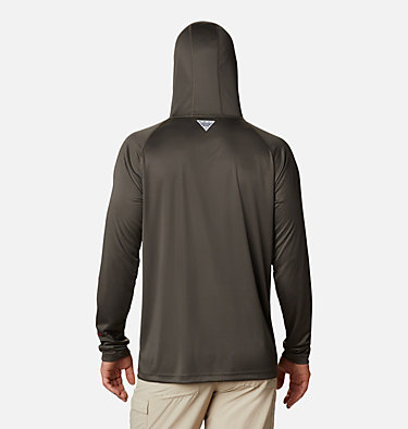 Men's PFG Terminal Tackle™ Hoodie Terminal Tackle™ Hoodie | 455 | XXL, Alpine Tundra, Red Spark Logo, back