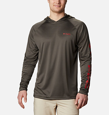 Men's PFG Terminal Tackle™ Hoodie Terminal Tackle™ Hoodie | 455 | XXL, Alpine Tundra, Red Spark Logo, front