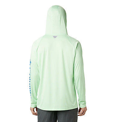 Men's PFG Terminal Tackle™ Hoodie Terminal Tackle™ Hoodie | 455 | XXL, Key West, Vivid Blue Logo, back