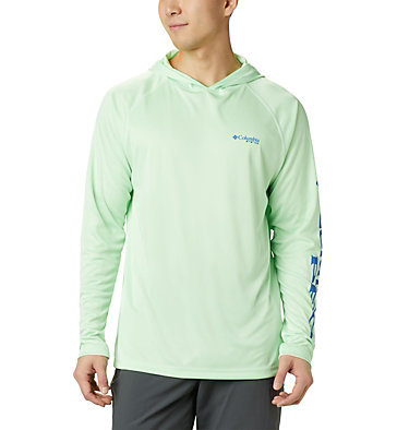 Men's PFG Terminal Tackle™ Hoodie Terminal Tackle™ Hoodie | 455 | XXL, Key West, Vivid Blue Logo, front
