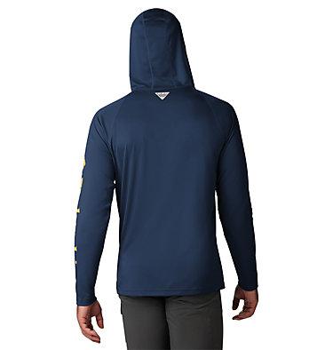 Men's PFG Terminal Tackle™ Hoodie Terminal Tackle™ Hoodie | 455 | XXL, Carbon, Sunlit Logo, back