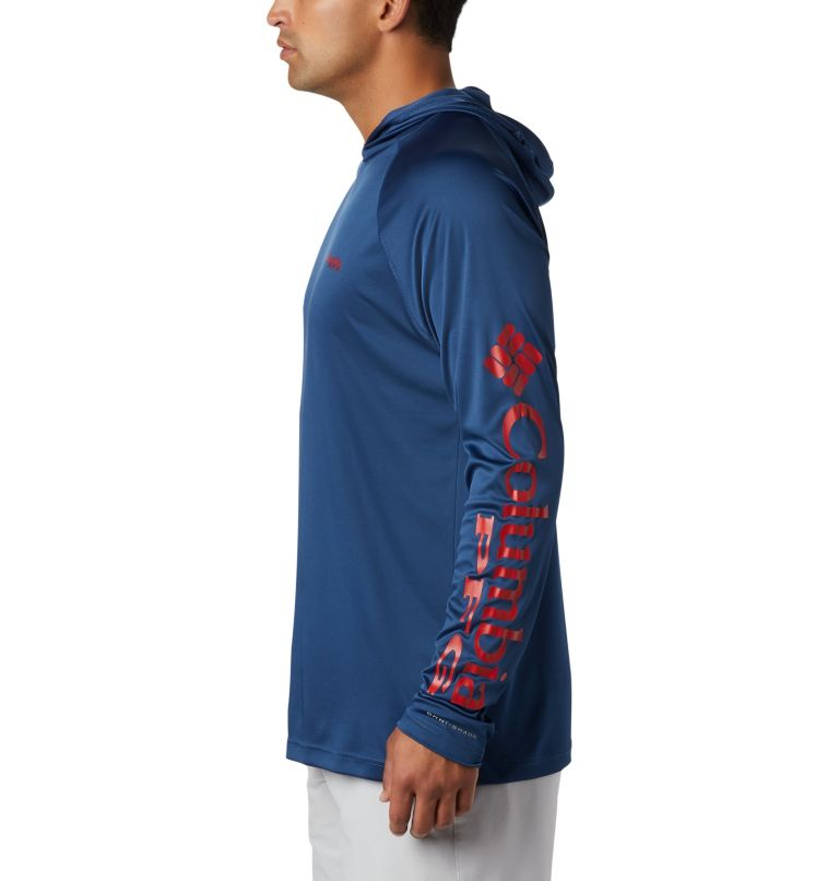Terminal Tackle™ Hoodie | 470 | S Men's PFG Terminal Tackle™ Hoodie, Carbon, Red Spark Logo, a1