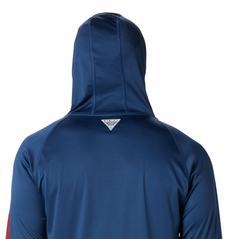 Terminal Tackle™ Hoodie | 470 | S Men's PFG Terminal Tackle™ Hoodie, Carbon, Red Spark Logo, a3