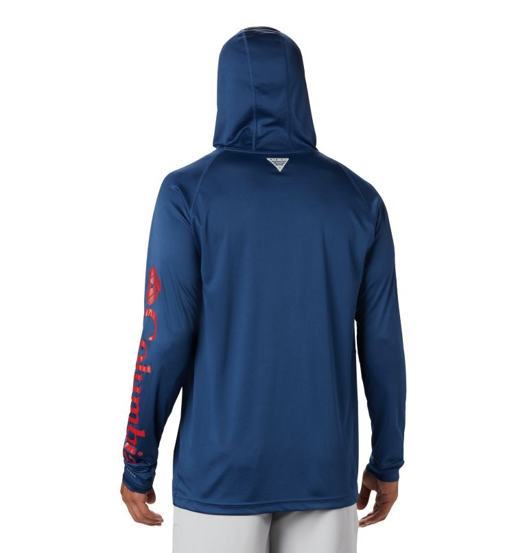 Terminal Tackle™ Hoodie | 470 | S Men's PFG Terminal Tackle™ Hoodie, Carbon, Red Spark Logo, back