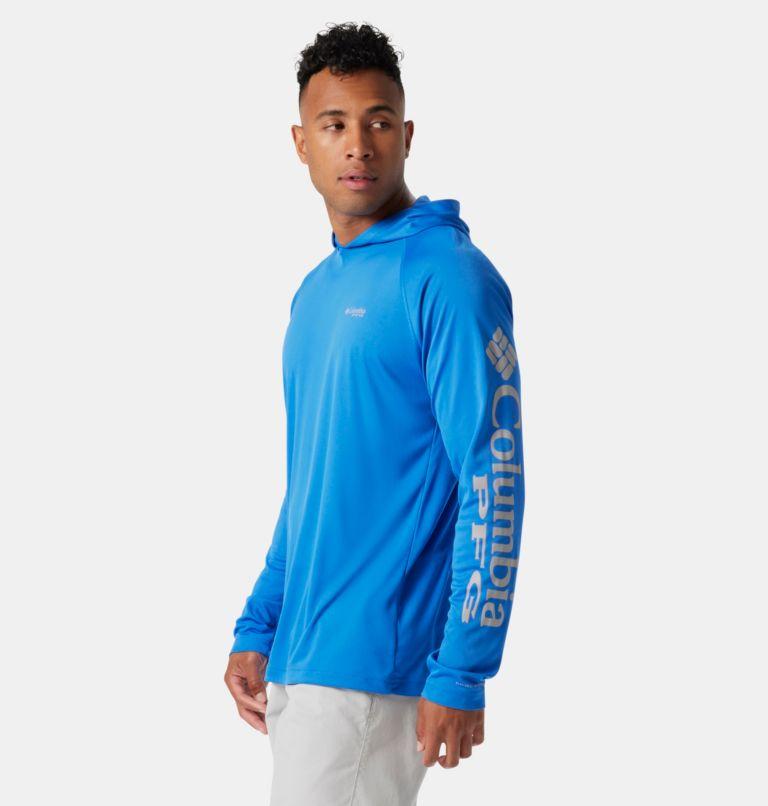 Terminal Tackle™ Hoodie | 487 | M Men's PFG Terminal Tackle™ Hoodie, Vivid Blue, Cool Grey Logo, a1