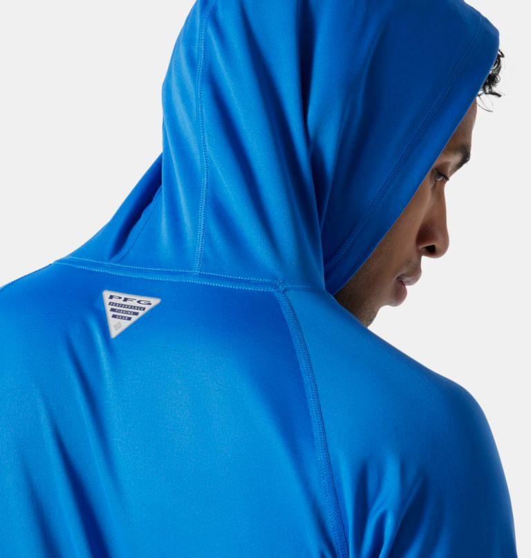 Terminal Tackle™ Hoodie | 487 | S Men's PFG Terminal Tackle™ Hoodie, Vivid Blue, Cool Grey Logo, a3