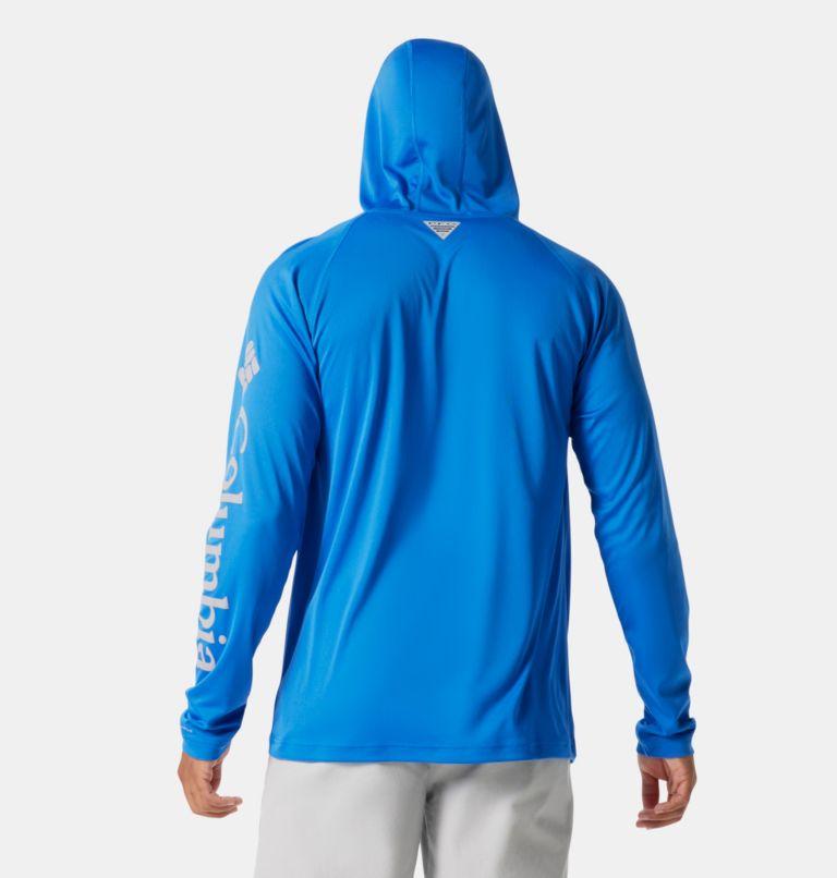 Terminal Tackle™ Hoodie | 487 | S Men's PFG Terminal Tackle™ Hoodie, Vivid Blue, Cool Grey Logo, back