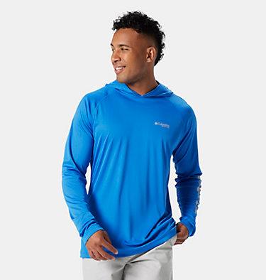 Men's PFG Terminal Tackle™ Hoodie Terminal Tackle™ Hoodie   455   XXL, Vivid Blue, Cool Grey Logo, front