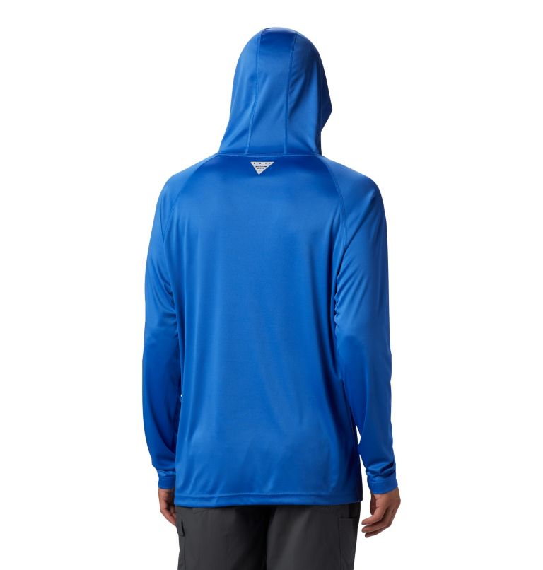 Terminal Tackle™ Hoodie | 489 | L Men's PFG Terminal Tackle™ Hoodie, Vivid Blue, Bright Nectar Logo, back