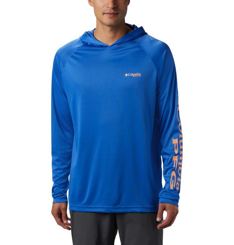 Terminal Tackle™ Hoodie | 489 | L Men's PFG Terminal Tackle™ Hoodie, Vivid Blue, Bright Nectar Logo, front