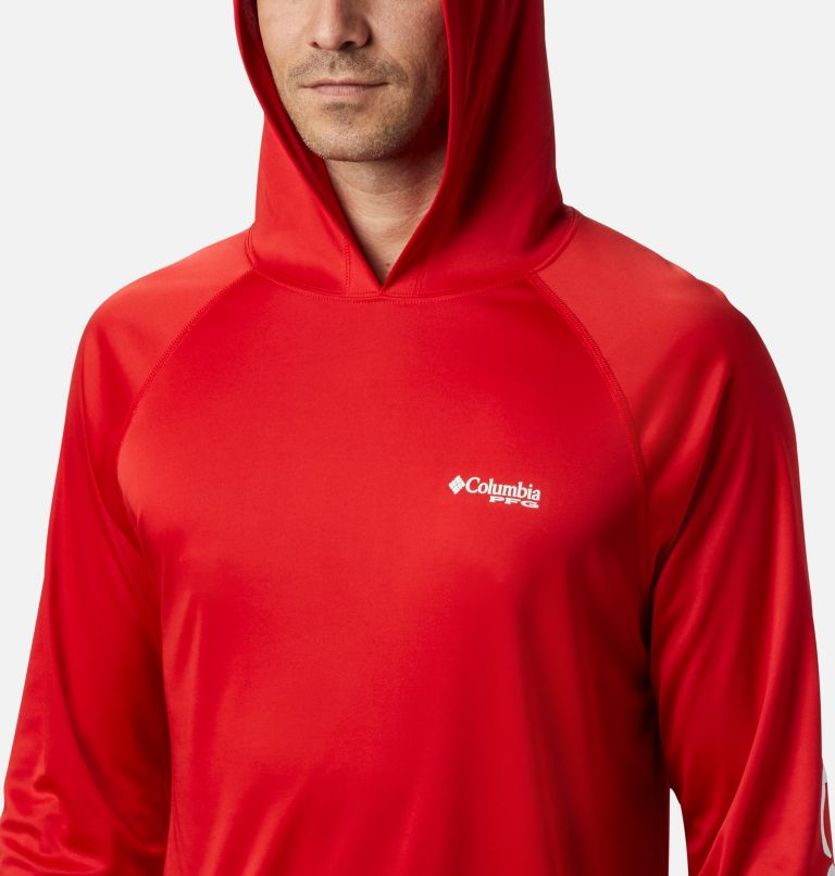 Terminal Tackle™ Hoodie | 696 | S Men's PFG Terminal Tackle™ Hoodie, Red Spark, White Logo, a2