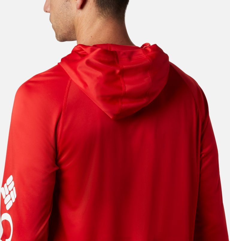 Terminal Tackle™ Hoodie | 696 | S Men's PFG Terminal Tackle™ Hoodie, Red Spark, White Logo, a3