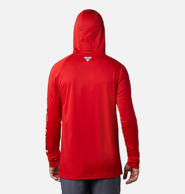 Men's PFG Terminal Tackle™ Hoodie Terminal Tackle™ Hoodie | 455 | XXL, Red Spark, White Logo, back