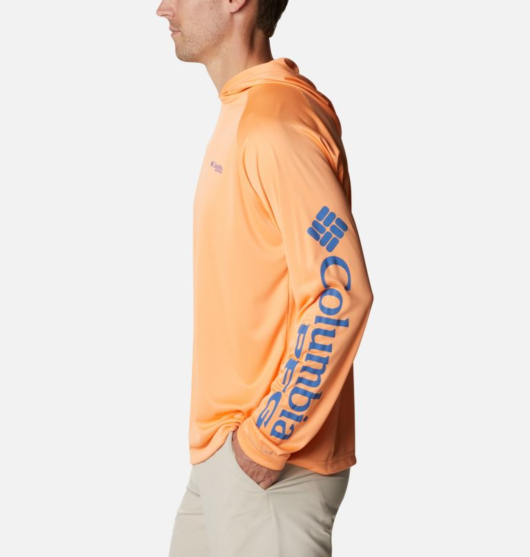 Terminal Tackle™ Hoodie | 873 | S Men's PFG Terminal Tackle™ Hoodie, Bright Nectar, Vivid Blue Logo, a1
