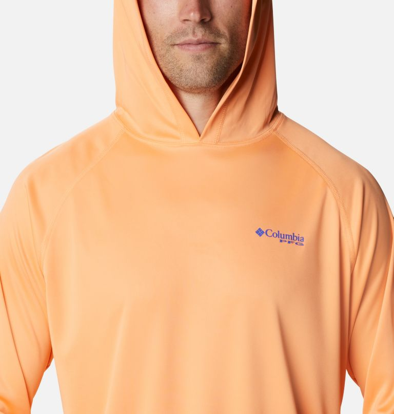 Terminal Tackle™ Hoodie | 873 | M Men's PFG Terminal Tackle™ Hoodie, Bright Nectar, Vivid Blue Logo, a2
